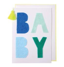 Meri Meri blue baby card