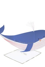 Meri Meri whale stand-up card
