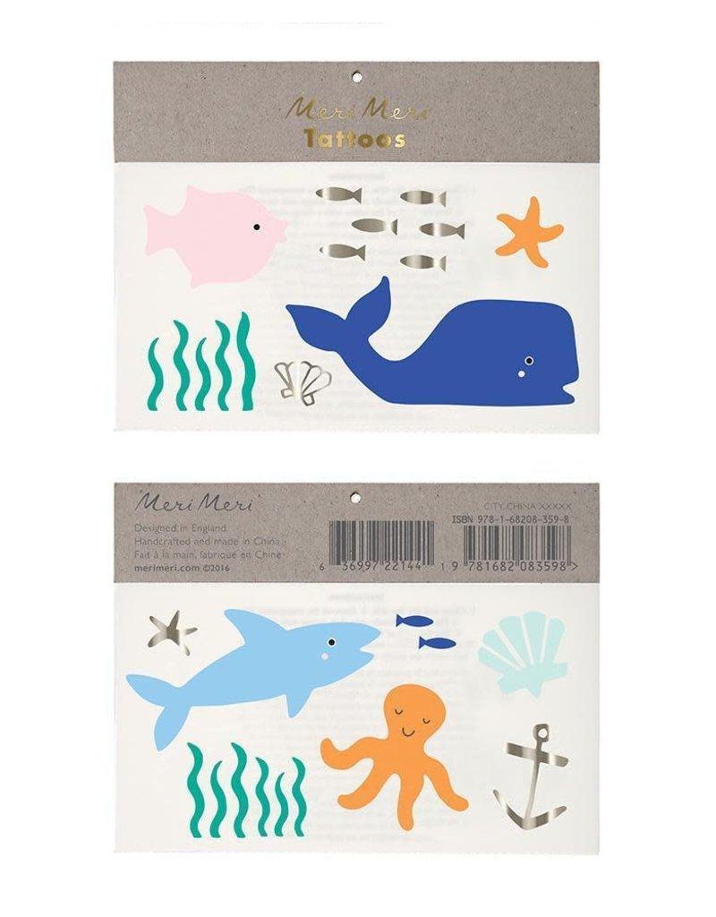 Meri Meri under the sea tattoos