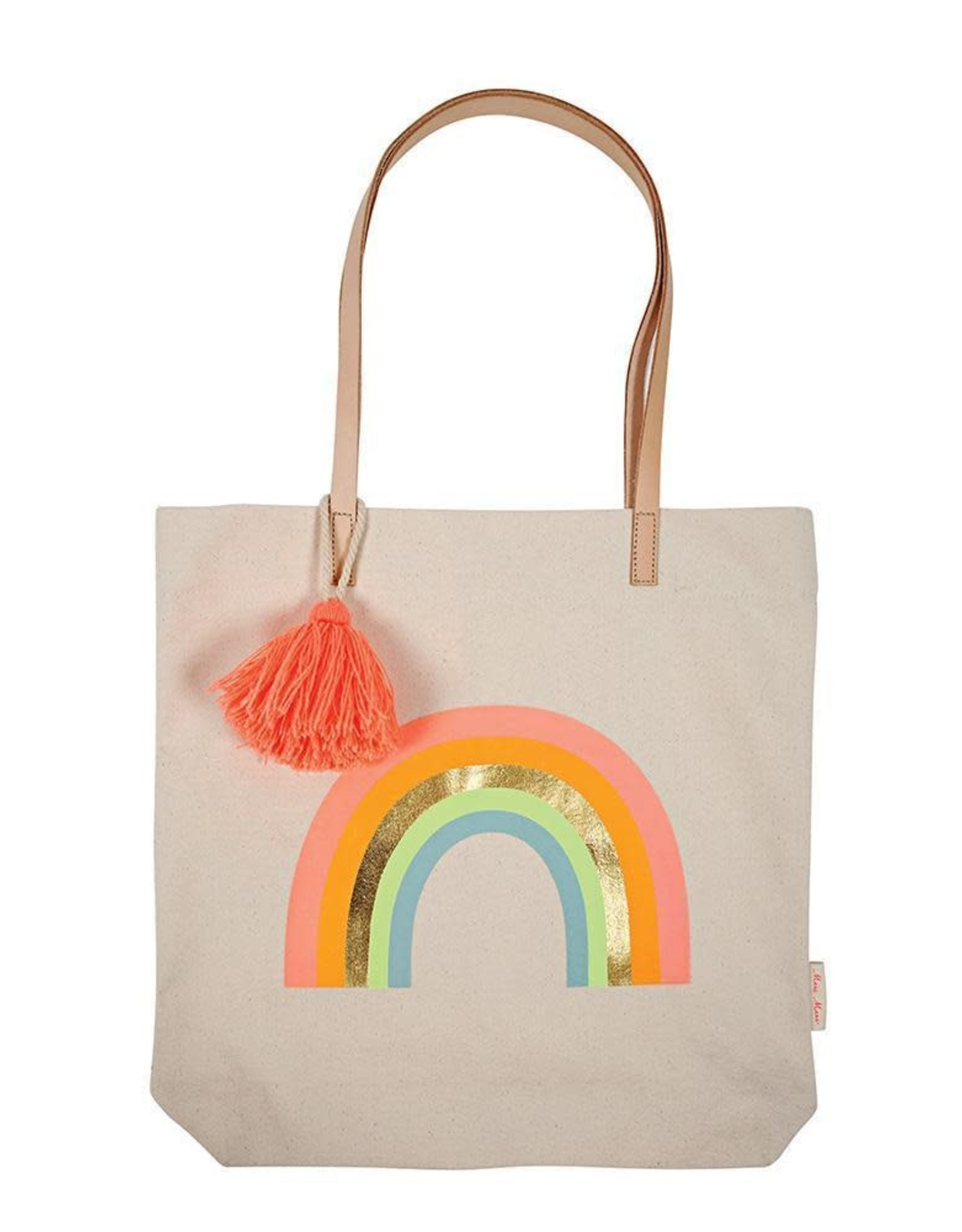 Meri Meri canvas rainbow tote bag