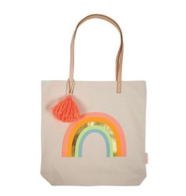 Meri Meri canvas rainbow tote bag