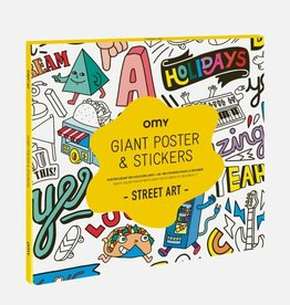 OMY giant poster & stickers- street art