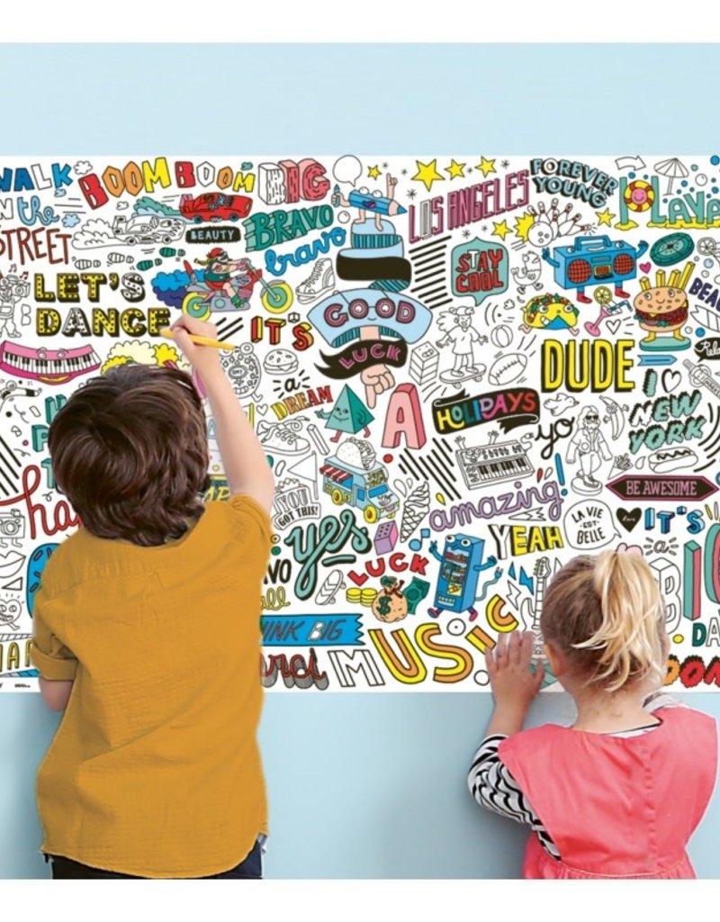 OMY giant poster & stickers- street art