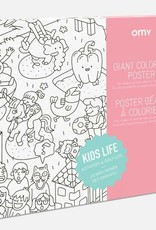 OMY giant coloring poster- kids life