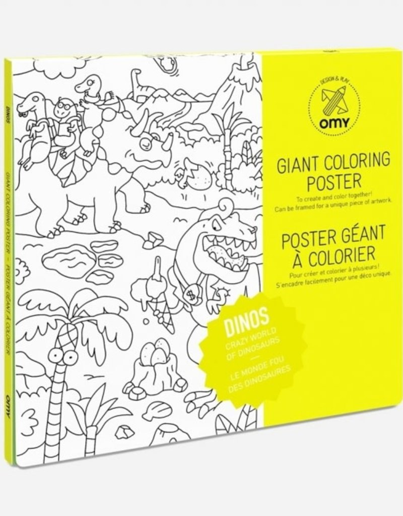 OMY giant coloring poster- dino
