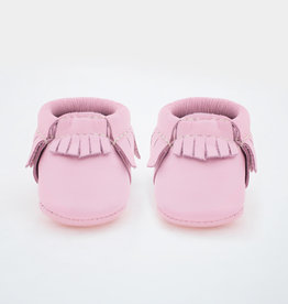 Freshly Picked rose pink moccasins- newborn