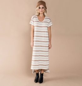 Rylee and Cru stripe t-shirt dress