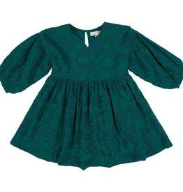 Pink Chicken celeste dress- evergreen embroidery