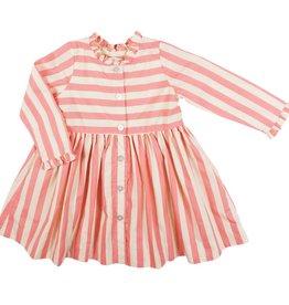 Pink Chicken autumn dress- mauve stripe