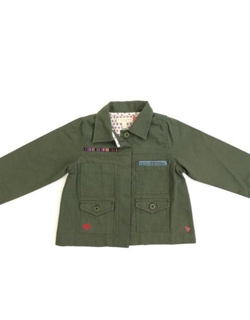 Pink Chicken army jacket- clover