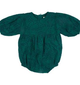 Pink Chicken bea bubble- evergreen w/ embroidery