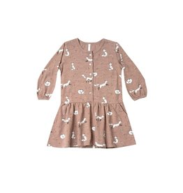 Rylee and Cru winter fox button up dress