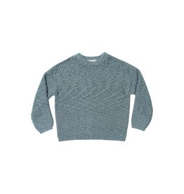 Rylee and Cru boxy pullover- dusty blue