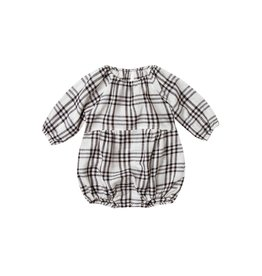Rylee and Cru check bubble romper