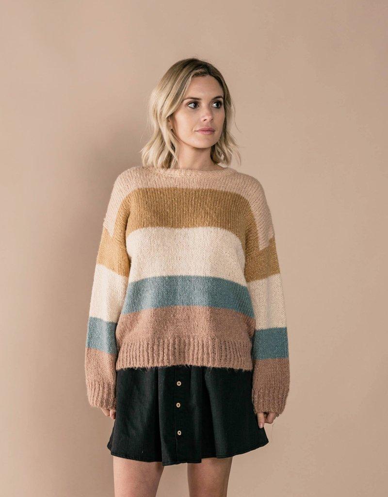 Rylee and Cru stripe aspen sweater