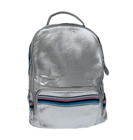 Bari Lynn silver stripe backpack