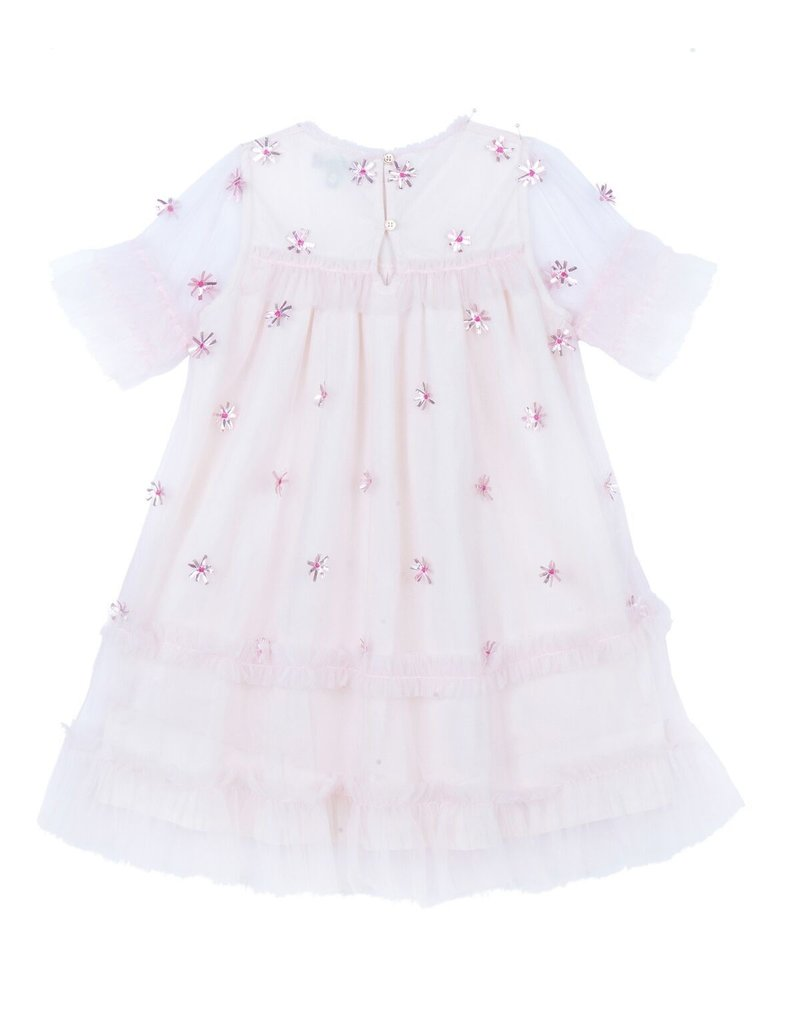 Velveteen laylani dress- pink shimmer