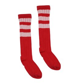 Velveteen laurene sock- cherry cola