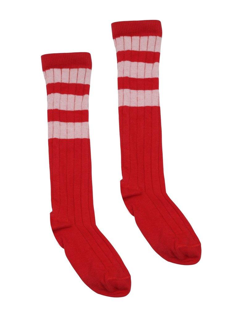 Velveteen laurene sock- cherry cola