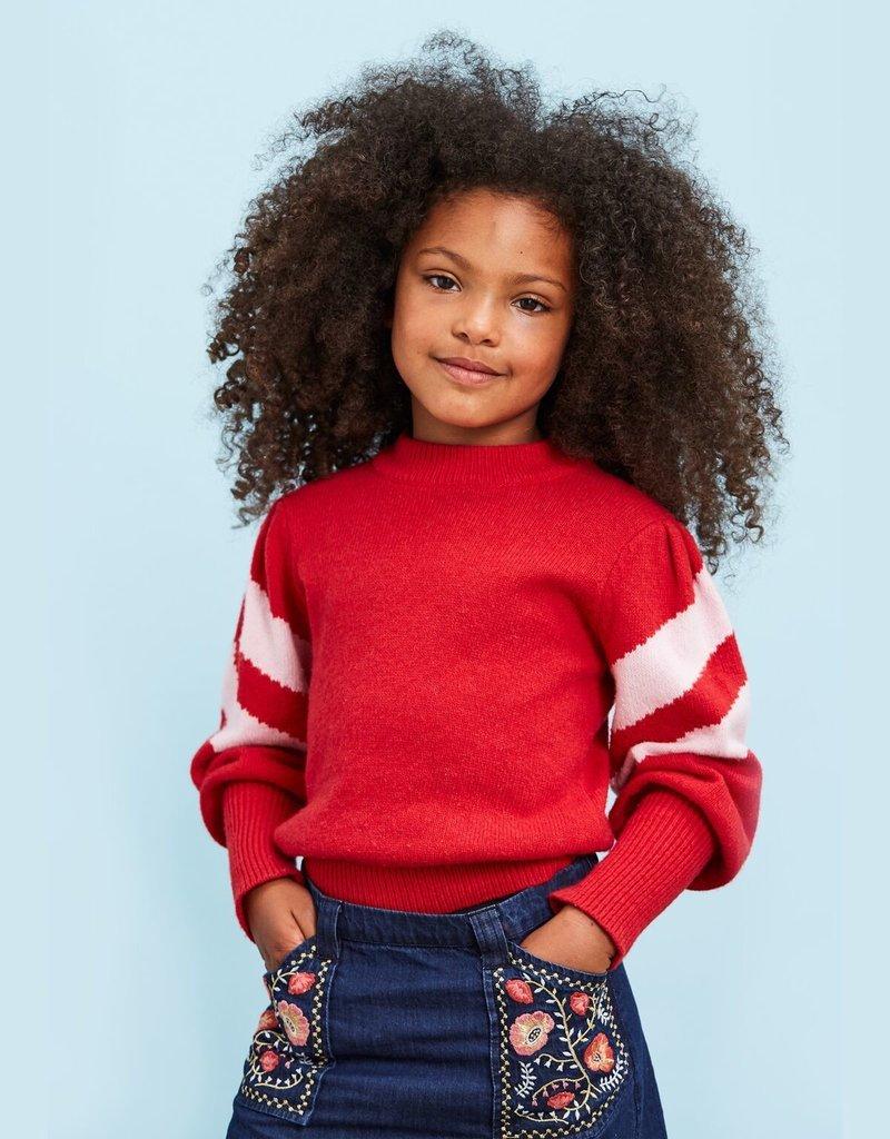 Velveteen stella sweater- cherry cola