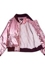 Velveteen sloane bomber- pink sparkle