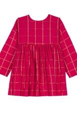 Velveteen camille dress- red check