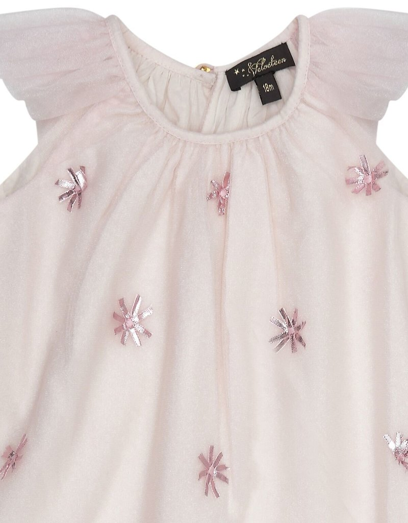 Velveteen harper dress- pink shimmer