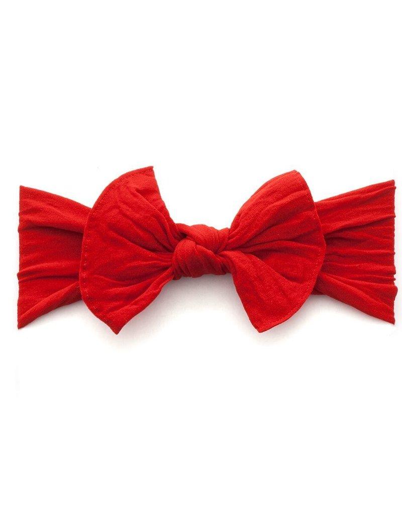 Baby Bling knot headband-cherry