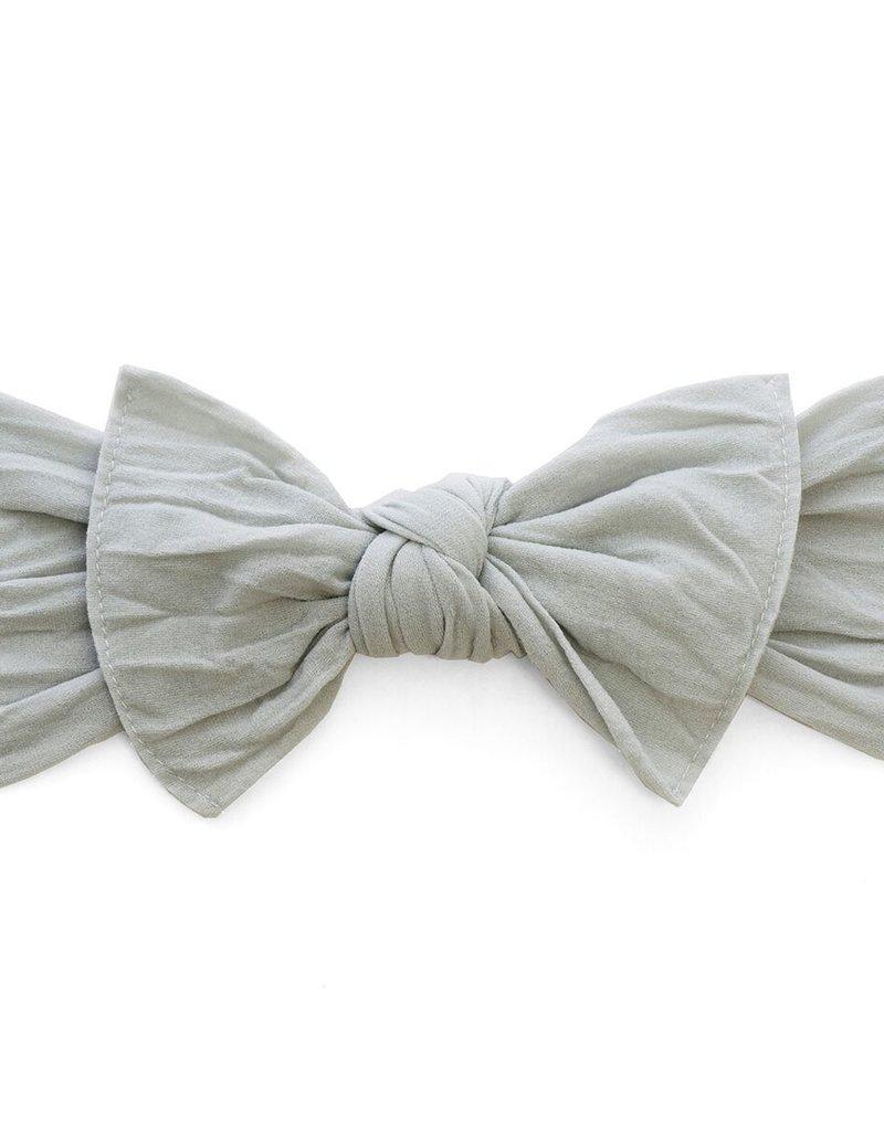 Baby Bling knot headband-grey