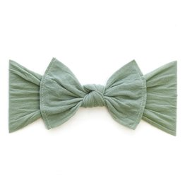 Baby Bling knot headband-sage