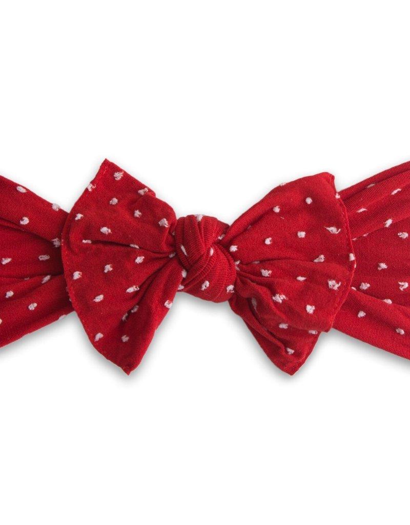 Baby Bling knot headband-cherry dot