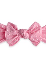 Baby Bling knot headband-bubblegum dot