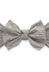 Baby Bling knot headband-taupe dot