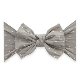 Baby Bling knot headband-taupe dot