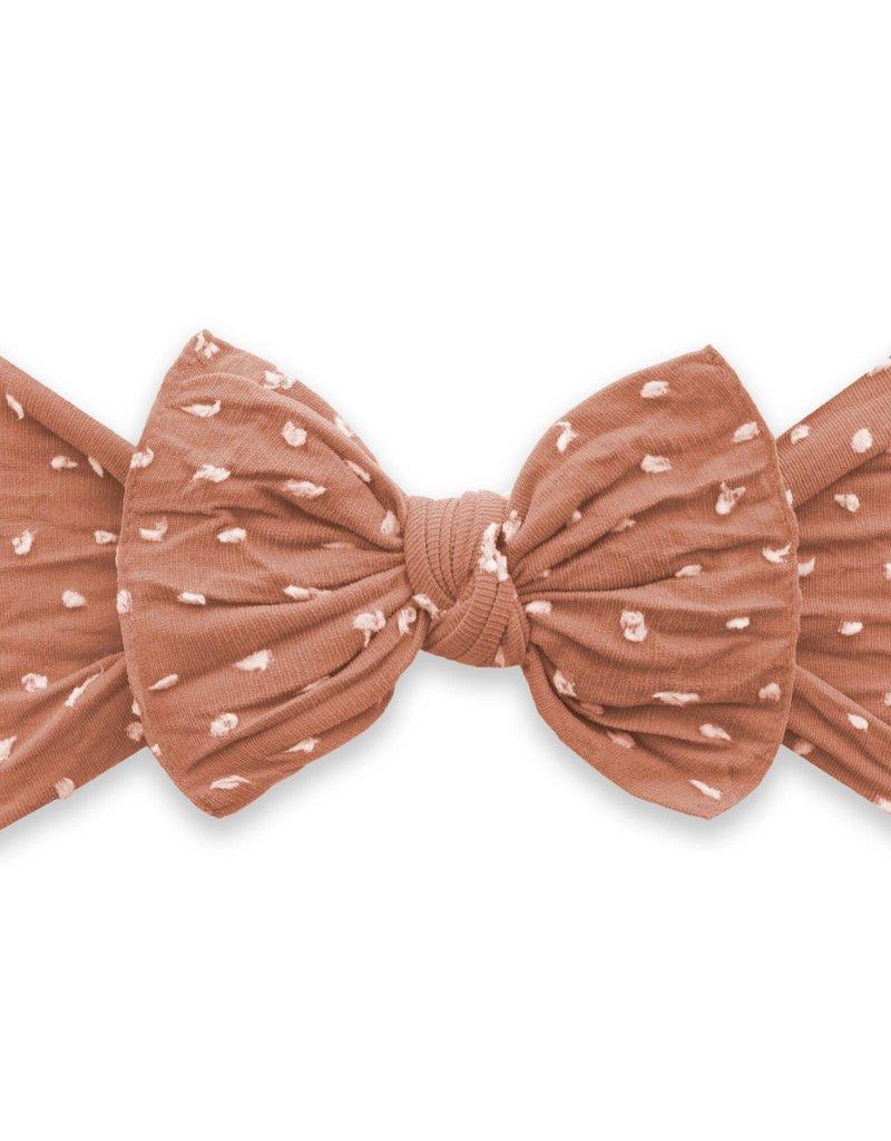 Baby Bling knot headband-rose gold dot