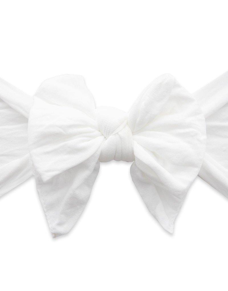 Baby Bling large knot headband-white dot
