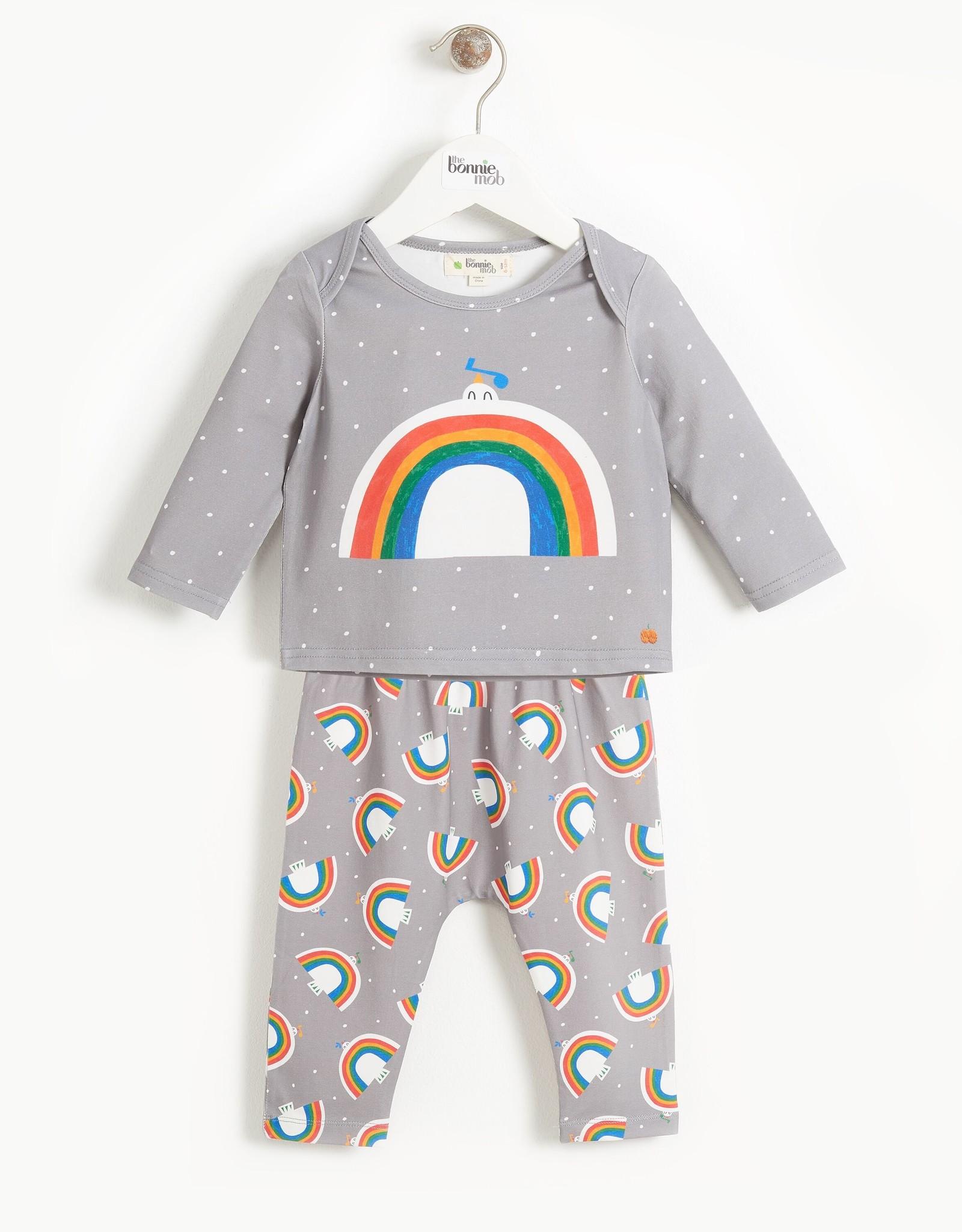 The Bonnie Mob dove rainbow set- grey