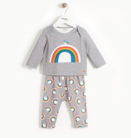 The Bonnie Mob dove rainbow set- grey