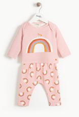 The Bonnie Mob dove rainbow set- pink
