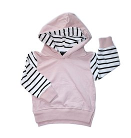 Little Bipsy Collection stripe hoodie- blush