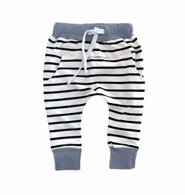 Little Bipsy Collection stripe joggers- ash blue