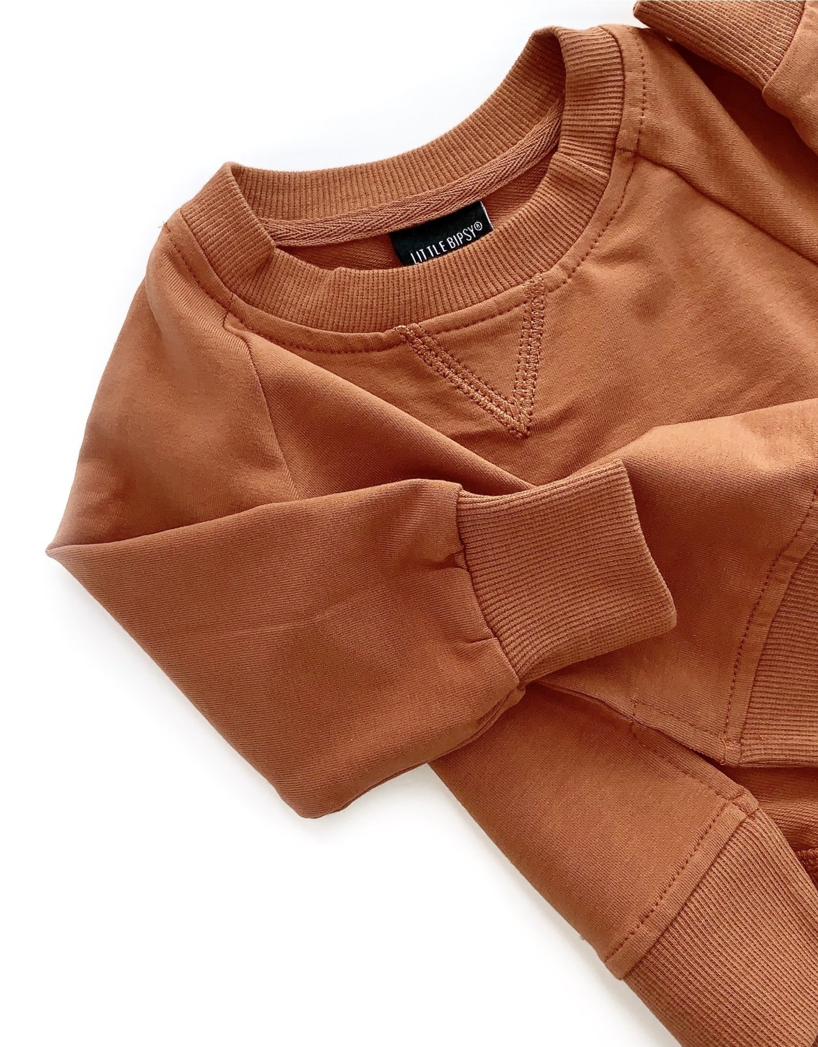 Little Bipsy Collection pullover- rust