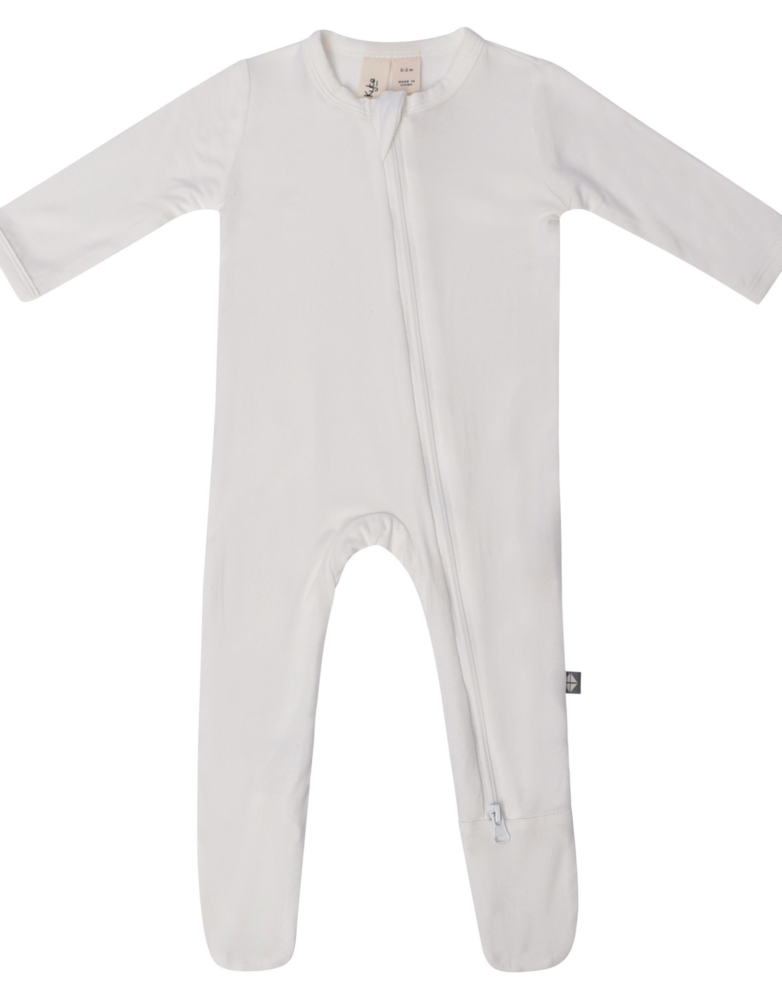 Kyte Baby zippered footie- cloud