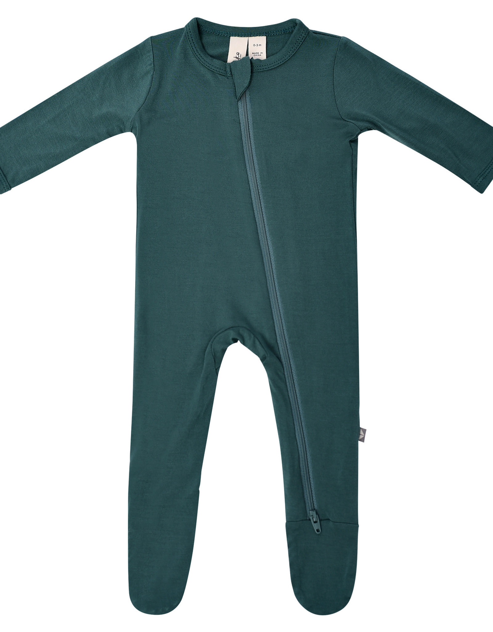 Kyte Baby zippered footie- emerald
