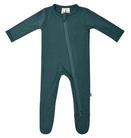 Kyte Baby zippered footie- emerald