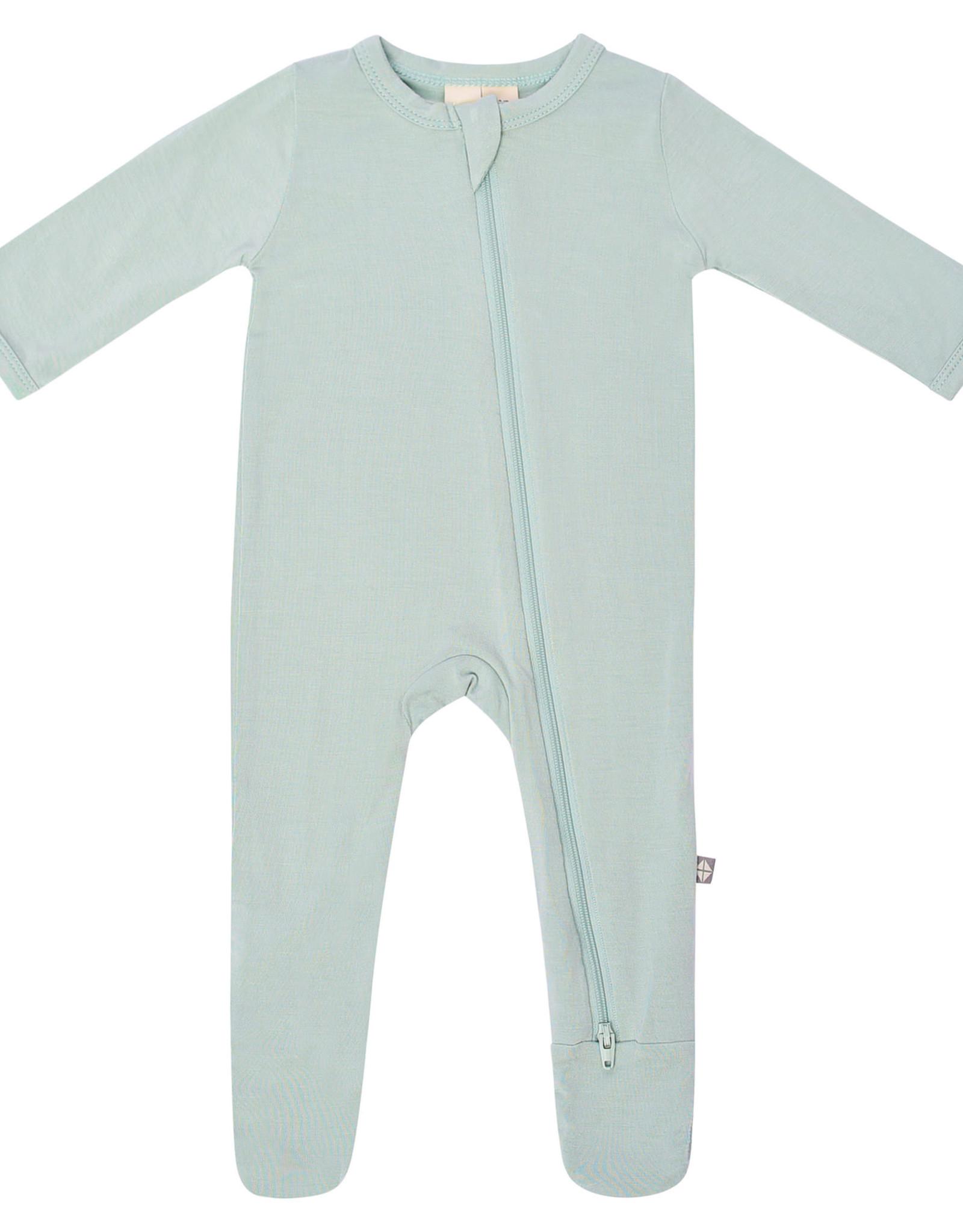 Kyte Baby zippered footie- sage