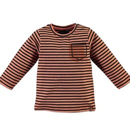 Babyface stripe top- salmon