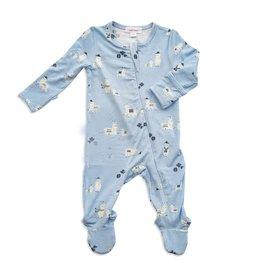 Angel Dear blue llama footie (zip)