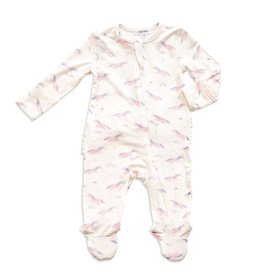 Angel Dear cosmic unicorn ruffle footie (zip)