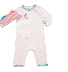 Angel Dear cosmic unicorn knit coverall